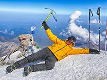 Отдых на вершине Эльбруса