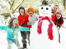 Снеговик всей семьей
